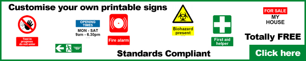 Free printable safety signs and labels