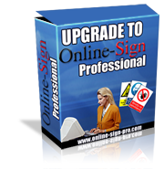 Upgrade to online sign professional today