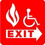 Accessible fire exit