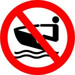 No personal water craft to be used