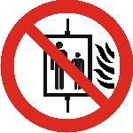 Do not use lift in event of fire