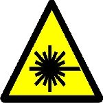 Caution Laserstrahl