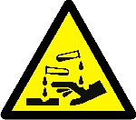 Warning Corrosive substance