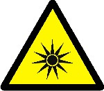 Warning optical radiation